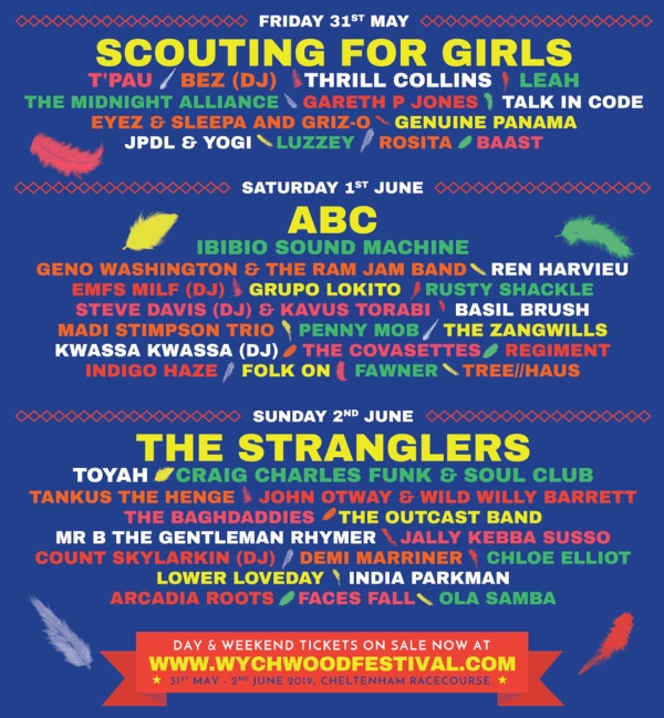 Whychwood Music Festival 2019 Line Up Poster