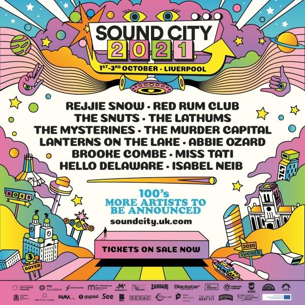 Sound City 2021 Line Up Poster