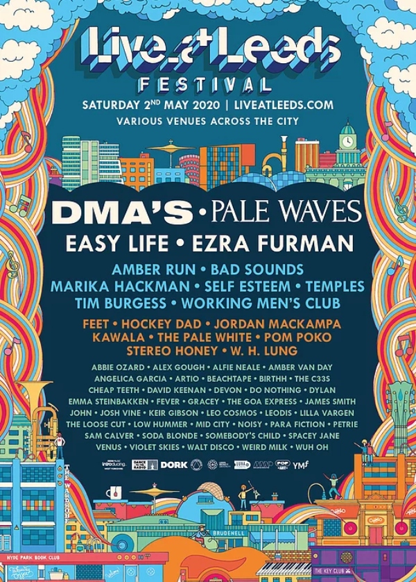 Live at Leeds 2020 line up poster