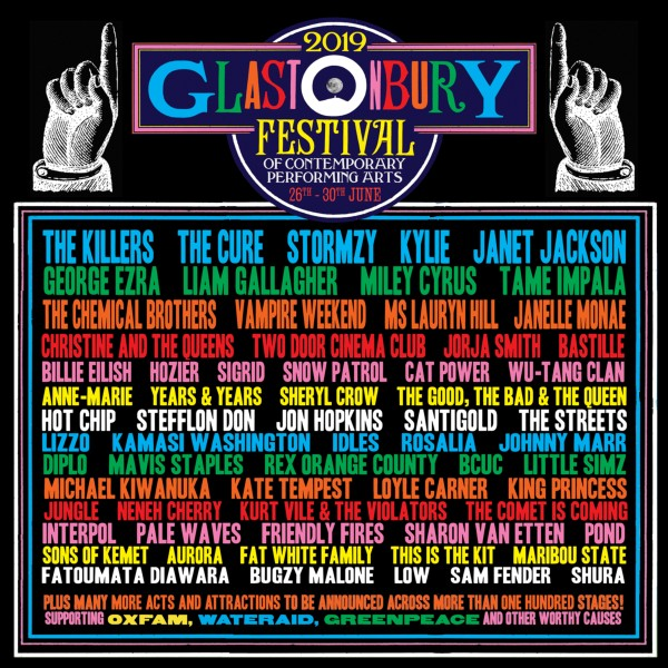 Glastonbury Festival 2019 Line Up