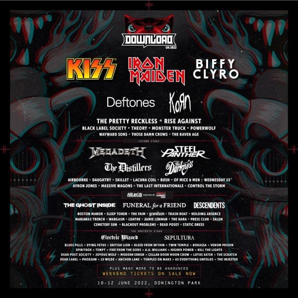 Download Festival 2022 line up poster