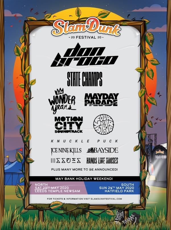 Slam Dunk Festival North 2020 Line Up Poster