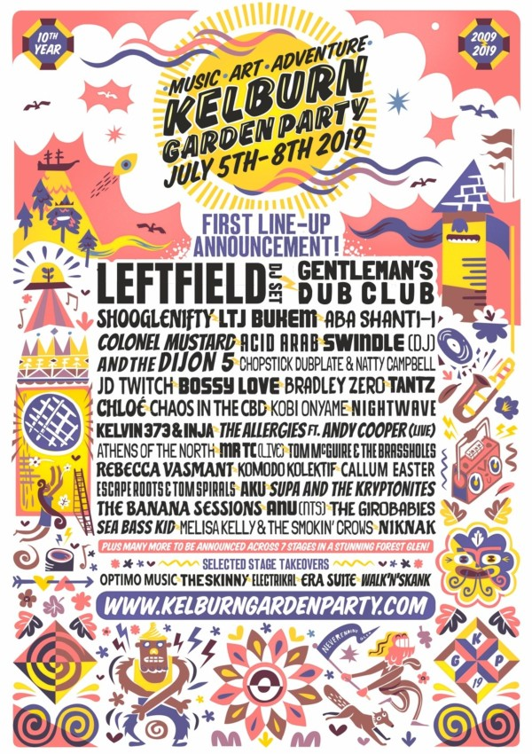 Kelburn Garden Party Line Up Poster