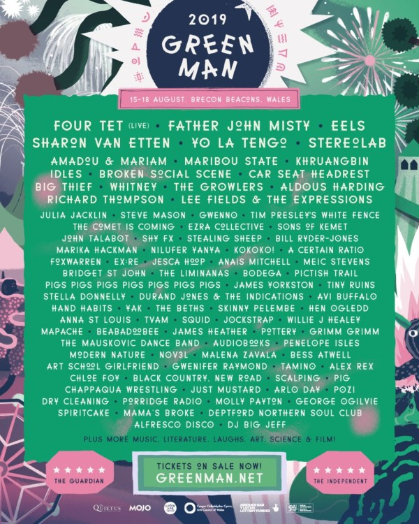 Green Man 2019 Line Up Poster
