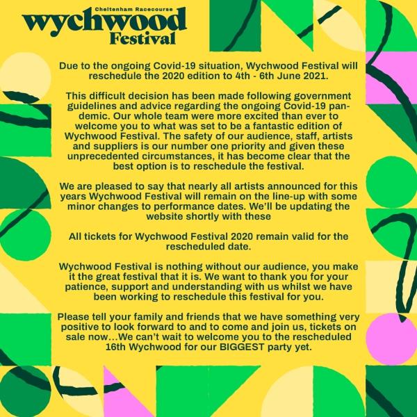 Wychwood Festival Postoned due to COVID 19
