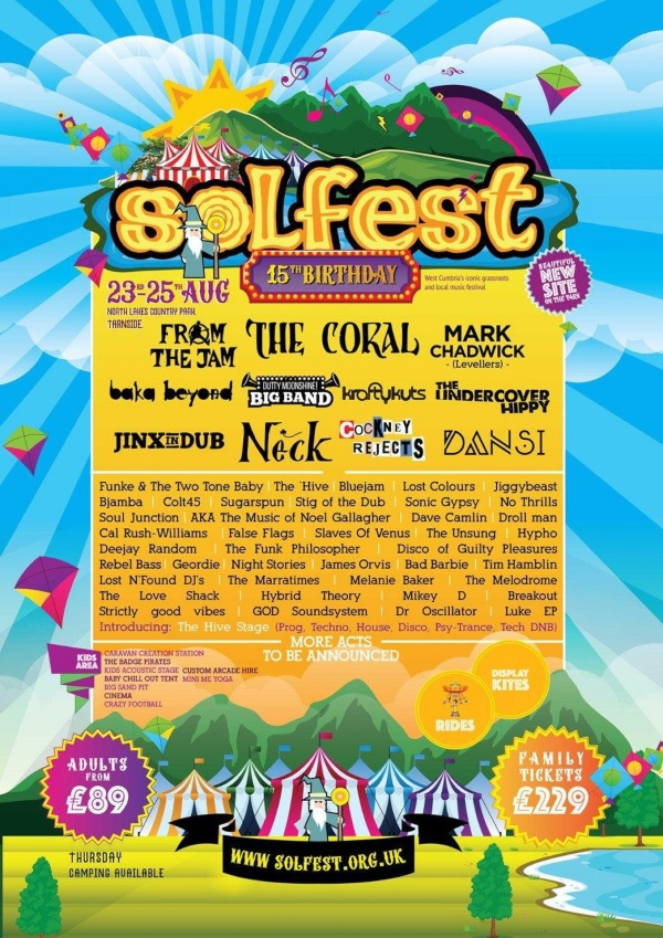 Solfest 2019 line up poster