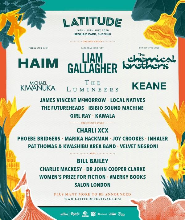 Latitude Festival 2020 line  up poster