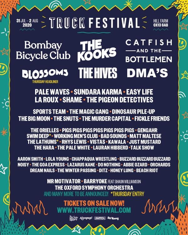 Truck Festival 2020 line up poster