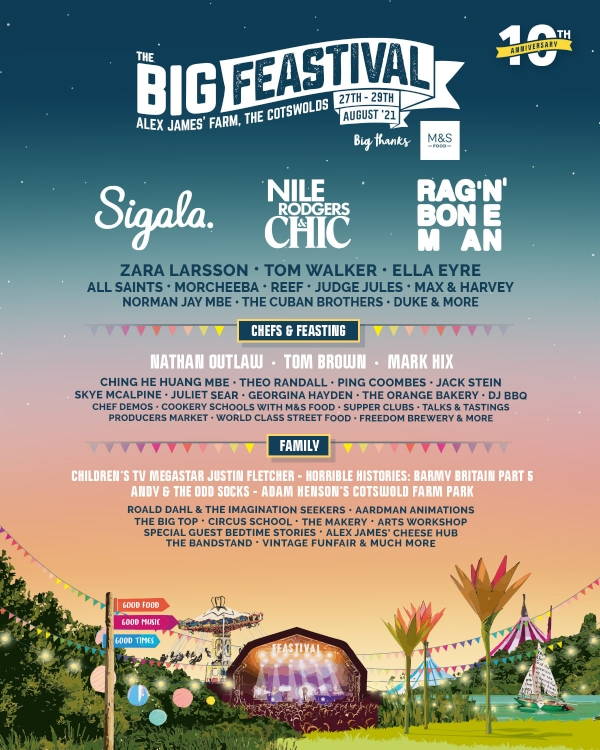 The Big Feastival 2021 Line Up Poster