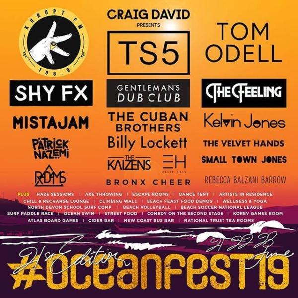 GoldCoast Oceanfest 2019 line up poster
