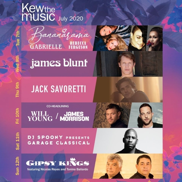 Kew The Music 2020 line up poster