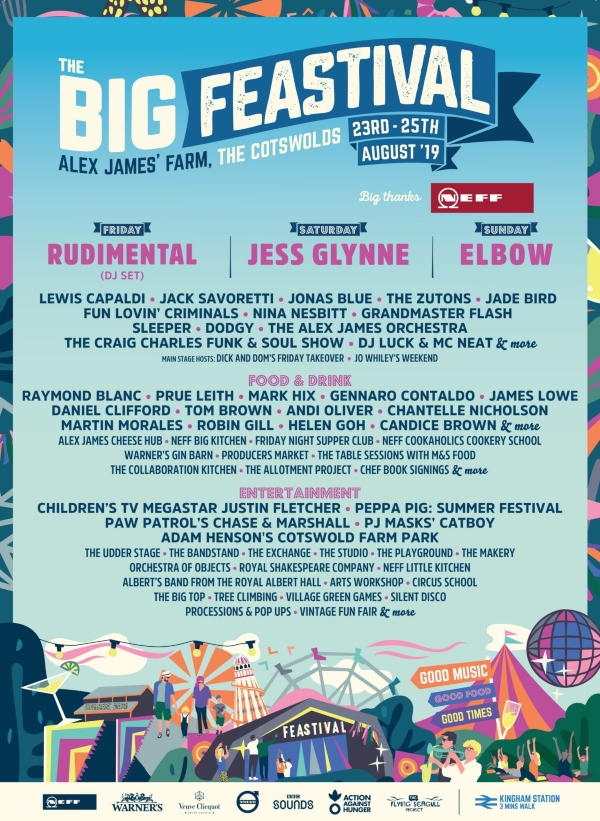 The Big Feastival 2019 Line Up Poster