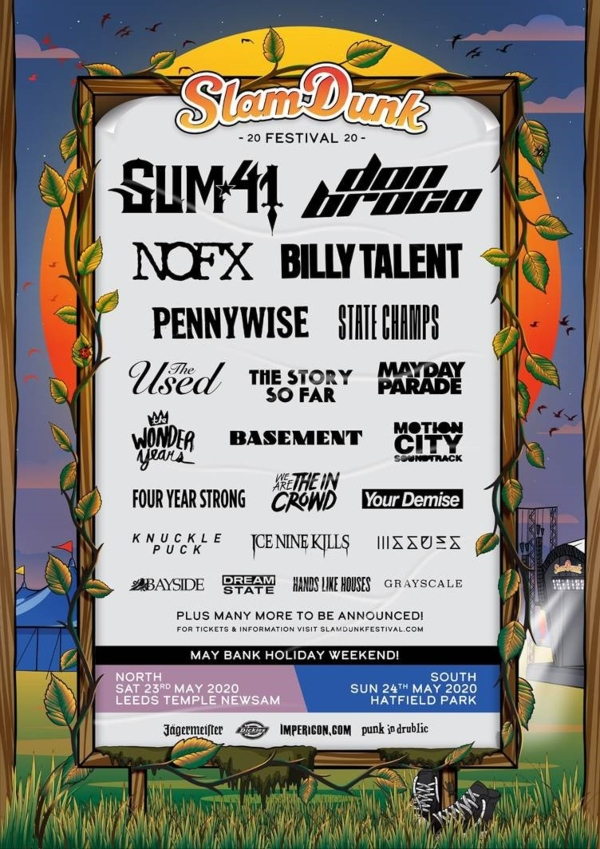 Slam Dunk North 2020 line up poster