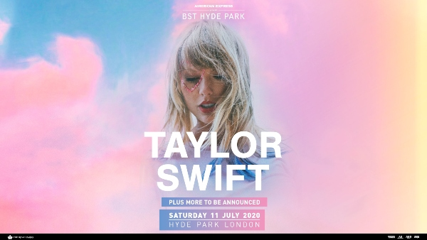 British Summer Time 2020 line up poster Taylor Swift