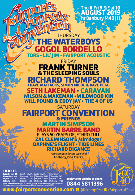 Fairports Cropredy Convention 2019 Line up poster