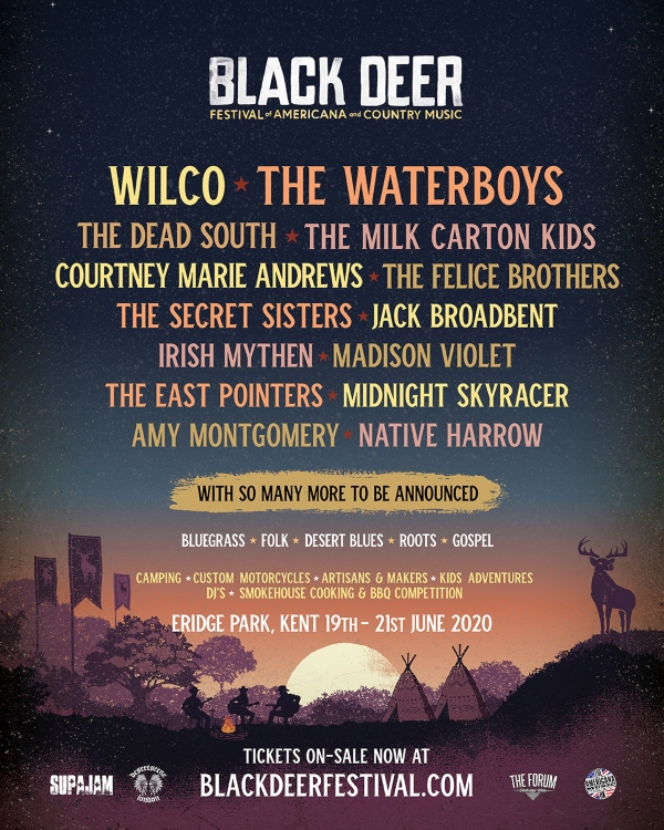 Black Deer Festival 2020 line up poster