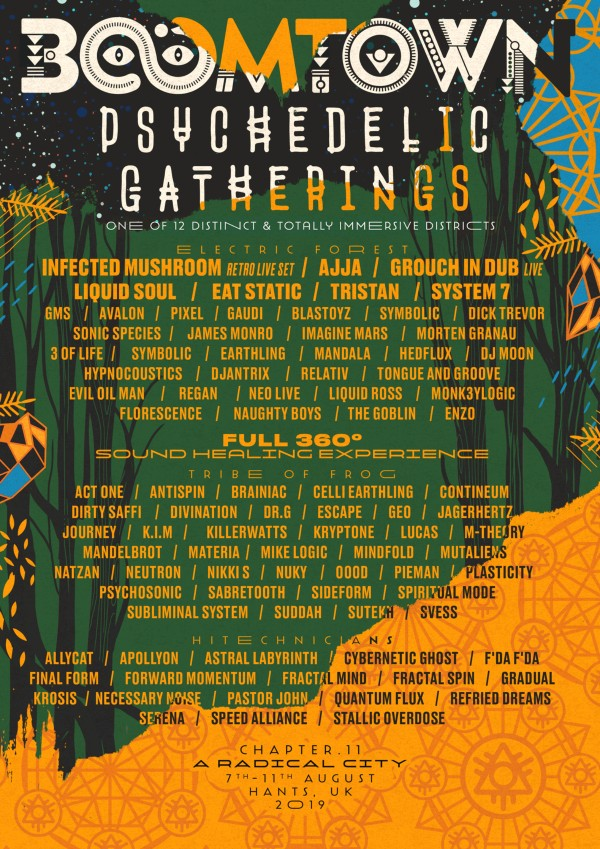 BoomTown Psychedelic Gatherings Line Up