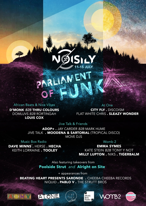 Noisily Festival 2019 line up poster