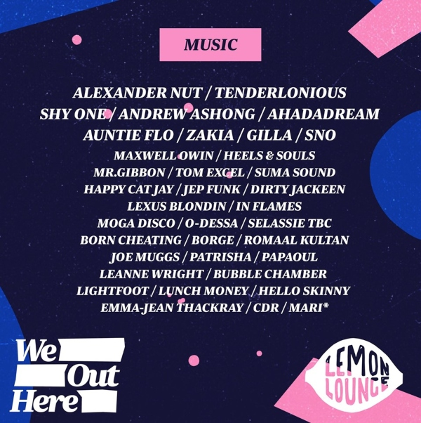 We Out Here 2019 line up poster