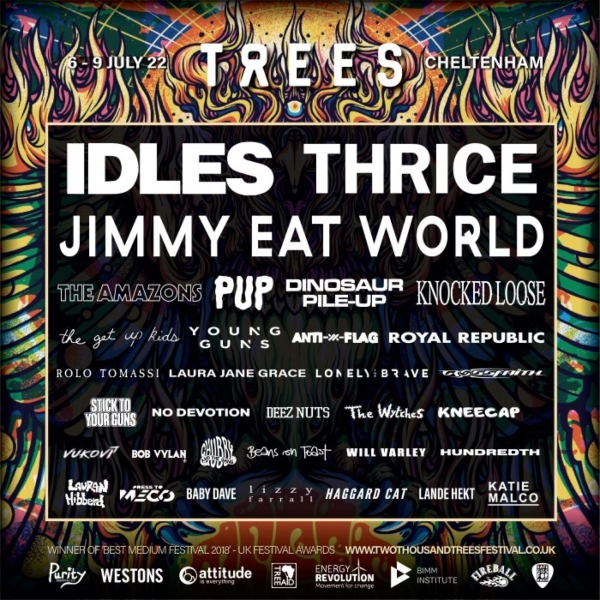 2000trees 2022 line up poster