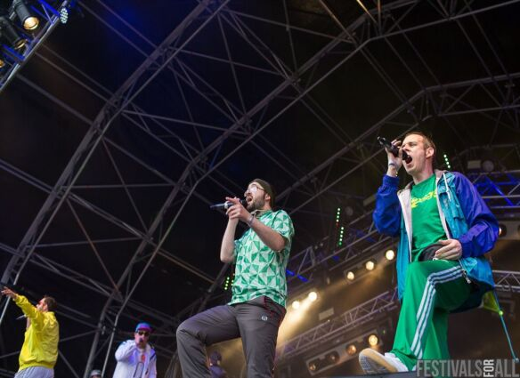 Goldie Lookin Chain at Brownstock Festival 2014