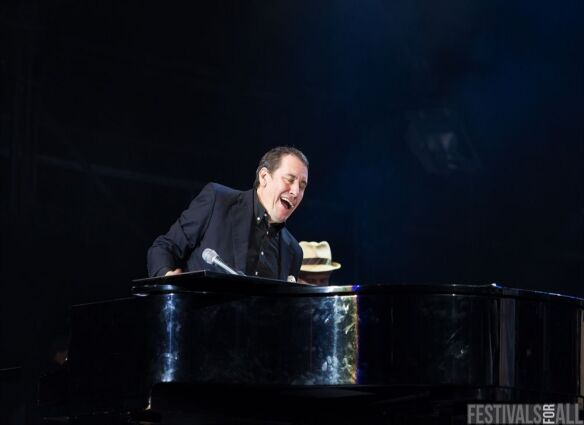 Jools Holland at Cornbury Festival 2014
