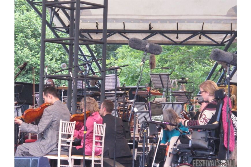 Orchestra in a field