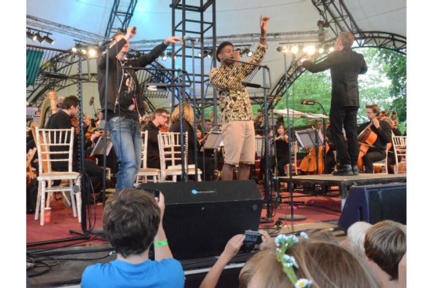 Professor Green and Labrinth at Orchestra in a Field