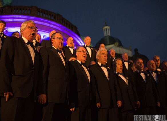 The Brythoniaid Welsh Male Voice Choir at Festival No 6 2014