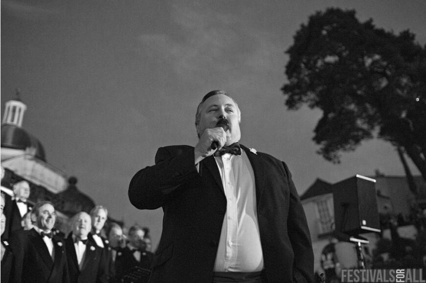 The Brythoniais Welsh Male Voice Choir at Festival No 6 2014