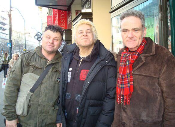 With charlie outside rock cafe prague  jan 09